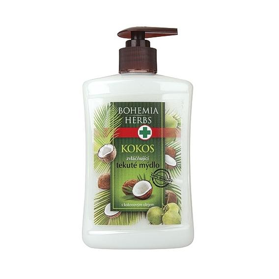 Bohemia Herbs - kosmetika kokos - tekuté mýdlo 500 ml s arganovým olejem