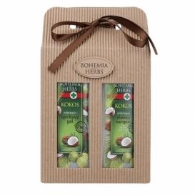 Bohemia Herbs - kosmetika kokos - dárkové balení - sprchový gel + vlasový šampon