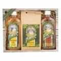 Pivná kozmetická sada Pivrnec – sprchový gél 100 ml, kúpeľová soľ 150 g a vlasový šampón 100 ml