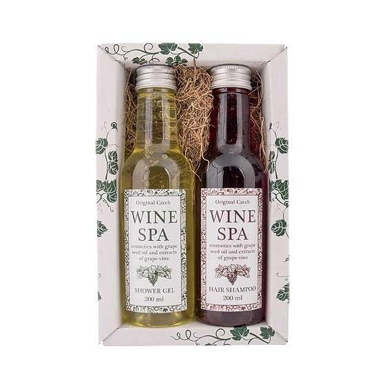Wine Spa darčeková sada - vínna kozmetika - gél a šampón