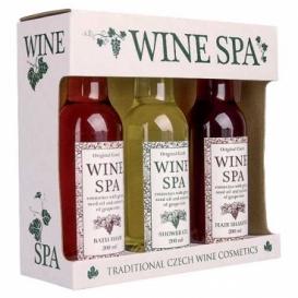 Wine Spa darčeková sada - vínna kozmetika – gél, šampón a pena