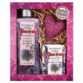 Kosmetika levandule dárkové balení - sprchový gel + mýdlo + patchwork