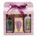 Levanduľa darčekové balenie - gél, vôňa karty a olejovom kúpeli