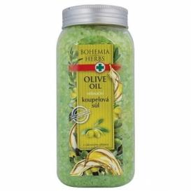 Bohemia Herbs - bylinná koupelová sůl 900 g - oliva