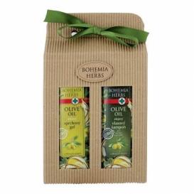 Darčekové balíčky kozmetiky oliva - sprchový gél a šampón