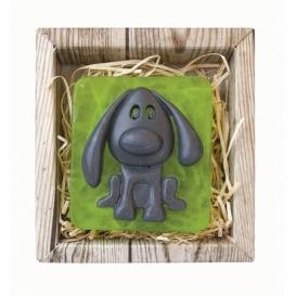 Ručne vyrábané mydlo v krabičke - pes 80 g