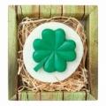 Ručne vyrábané mydlo - four-leaf clover pre šťastie