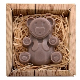 Ručne vyrábané mydlo v krabičke - medveď 60 g