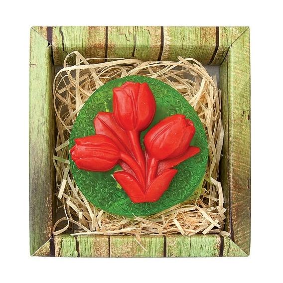 Ručne vyrábané mydlo 75 g - tulipány
