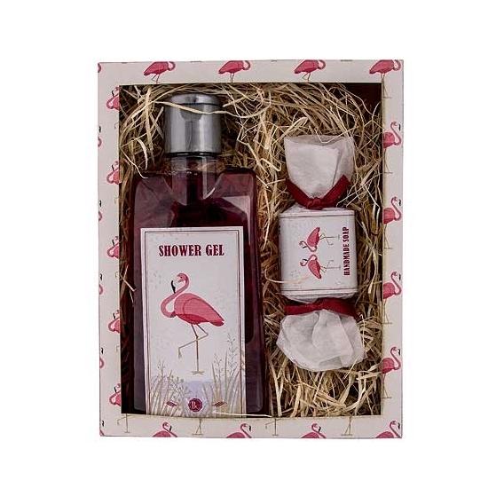 Bohemia Darčeky - darčekové balíčky kozmetiky - sprchovací gél a mydlo 30 g - Flamingo