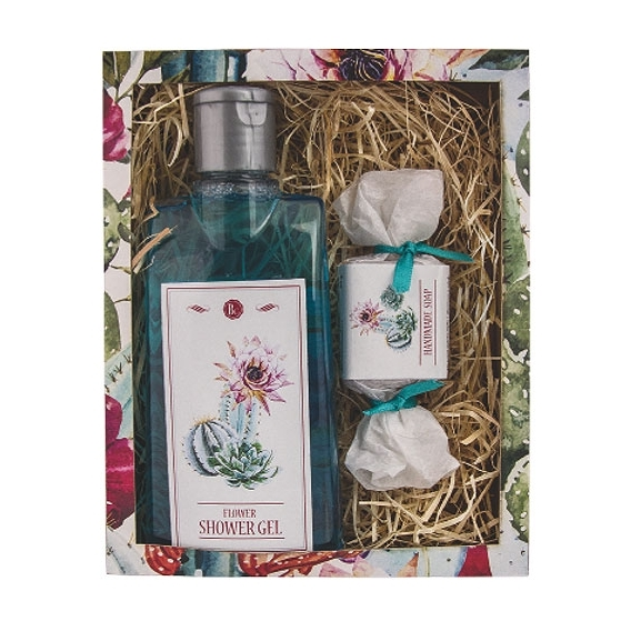 Bohemia Darčeky - darčekové balíčky kozmetiky - sprchovací gél a mydlo 30 g - Kaktus