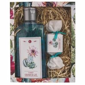 Darčekový balíček - sprchovací gél a mydlo 30 g - Kaktus