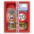 Darčekové balenie - Všetko najlepšie 20 - sprchový gél 300 ml, ručne vyrábané mydlo
