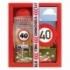 Darčekové balenie - Všetko najlepšie 40 - sprchový gél 300 ml, ručne vyrábané mydlo