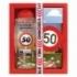Darčekové balenie - Všetko najlepšie 50 - sprchový gél 300 ml, ručne vyrábané mydlo