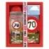Darčekové balenie - Všetko najlepšie 70 - sprchový gél 300 ml, ručne vyrábané mydlo