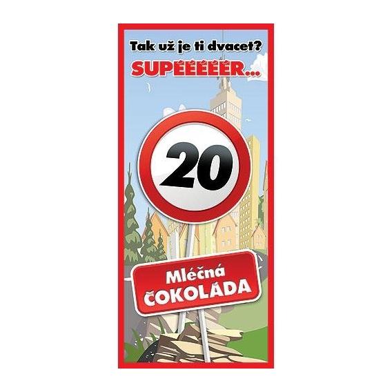 Bohemia Darčeky - darček čokoláda. - 20. narodeniny 100 g - happy birthday
