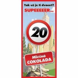Bohemia Gifts - dárková čokoláda k 20. narozeninám 100 g - Vše nej