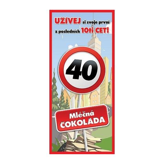 Bohemia Darčeky - darček čokoláda na 40. narodeniny 100 g - happy birthday