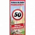 Bohemia Darčeky - darček čokoláda na 50. narodeniny 100 g - happy birthday