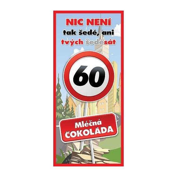 Bohemia Gifts - dárková čokoláda k 60. narozeninám 100 g - Vše nej