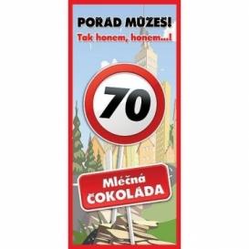 Bohemia Gifts - dárková čokoláda k 70. narozeninám 100 g - Vše nej
