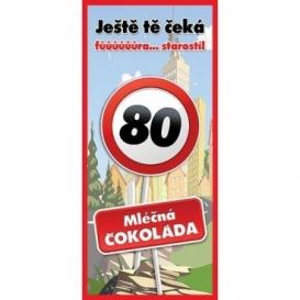 Bohemia Gifts - dárková čokoláda k 80. narozeninám 100 g - Vše nej