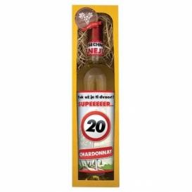 Darčekové biele víno v krabičke 750 ml - Chardonnay - Všetko najlepšie 20