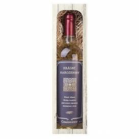 Bohemia Gifts - bílé víno 0,75 l - k narozeninám Chardonnay