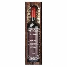 Bohemia Gifts - dárkové víno 0,75 l - k svátku - Merlot