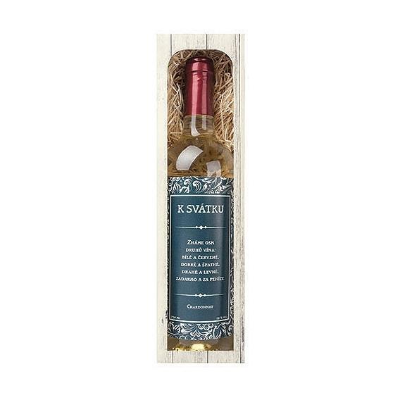 Bohemia Gifts - dárkové bílé víno 0,75 l - k svátku