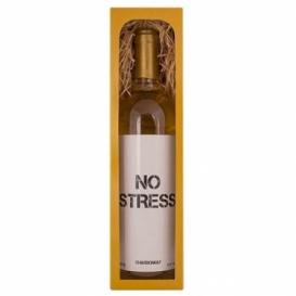 Bohemia Gifts - bílé víno 0,75 l Chardonnay – No Stress