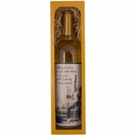 Darčekové biele víno 0,75 l Chardonnay - dva deci