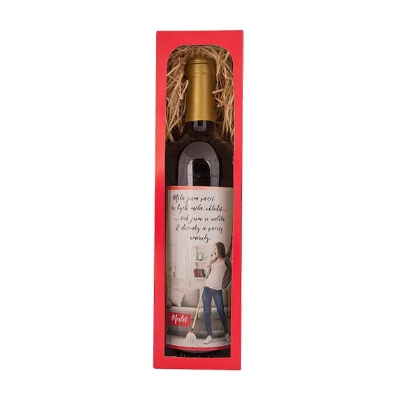 Bohemia Darčeky - červené víno, 0.75 l Merlot – dva decinky