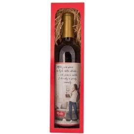 Bohemia Gifts - červené víno 0,75 l Merlot – dvě decinky