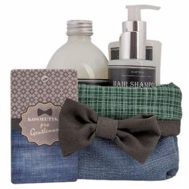 Darčeková sada pre muža - gél, mydlo a šampón v košíku