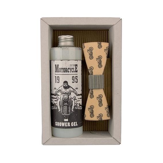 Bohemia Gifts -  sada - sprchový gel a motýlek Motorkář