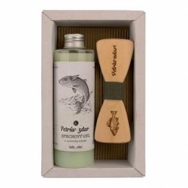 Bohemia Gifts -  sada - sprchový gel a motýlek Rybář