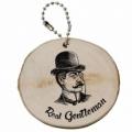 Bohemia Gifts - dřevěná klíčenka pro gentlemana