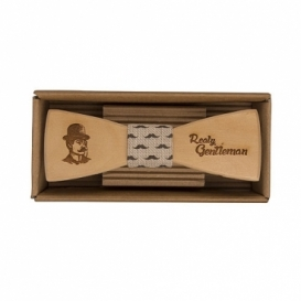 Bohemia Darčeky - drevený motýlik Gentleman