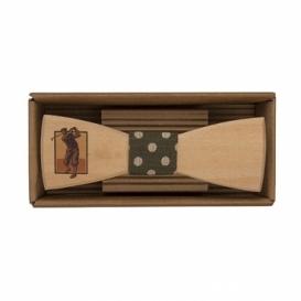 Bohemia Gifts - dřevěný motýlek Golfista