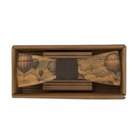 Bohemia Gifts - dřevěný motýlek pro cestovatele