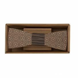 Bohemia Gifts - dřevěný motýlek - kostky