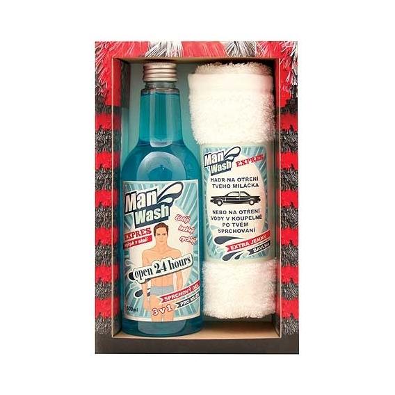 Bohemia Gifts - myčka pro muže - gel 500 ml a ručník