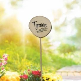 Bohemia Gifts - dřevěné zapichovátko k bylinkám - tymián