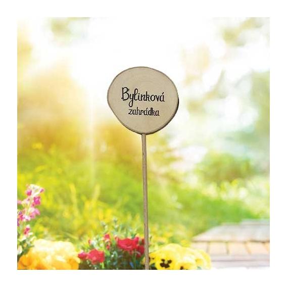 Bohemia Darčeky - drevené zapichovátko bylín - bylinkovej záhrady