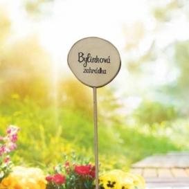 Bohemia Gifts - dřevěné zapichovátko k bylinkám - bylinková zahrada