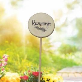 Bohemia Darčeky - drevené zapichovátko na byliniek - rozmarín