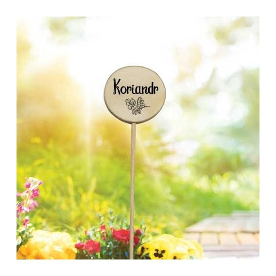 Bohemia Gifts - dřevěné zapichovátko k bylinkám - koriandr