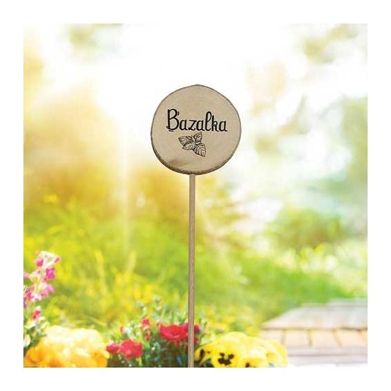 Bohemia Darčeky - drevené zapichovátko na bylinky - bazalku